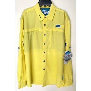 NEW PELAGIC Mens Eclipse Guide Shirt Yellow Small